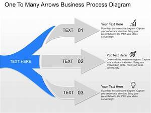 Pptx One To Many Arrows Business Process Diagram