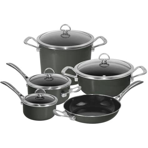 shop chantal onyx black  piece copper fusion cookware set overstock