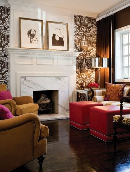 trends  wallpaper accent walls bossy color annie