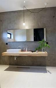les 25 meilleures idees de la categorie beton decoratif With salle de bain design avec muret pierre reconstituée décoratif
