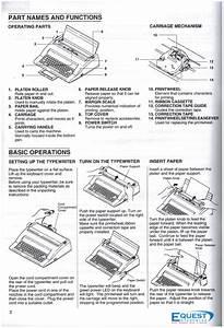 Nakajima Typewriter Ax150 User Manual