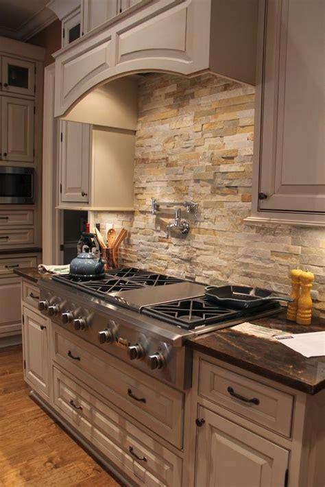 cool stone  rock kitchen backsplashes  wow