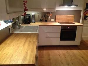 Ikea Arbeitsplatte Eiche : massivholzplatte k chenarbeitsplatte eiche auch f r ikea arbeitsplatte ge lt ebay ~ Markanthonyermac.com Haus und Dekorationen