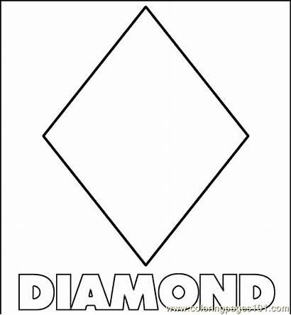 Diamond Shape Coloring Shapes Printable Pages Diamonds