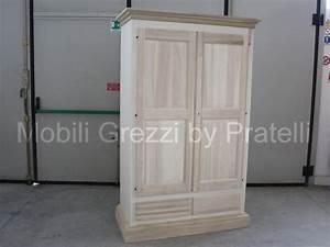 Armadi Grezzi, Armadio 2 Ante Grezzo Cappello Dritto