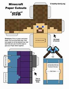 download and print a free steve minecraft paper crafts With minecraft steve paper template