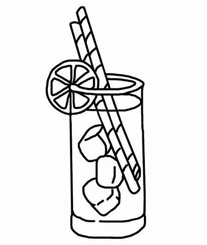 Lemonade Coloring Stand Glass Drawing Pages Sm