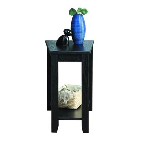 trent home elwell chair side table in black 4728bk