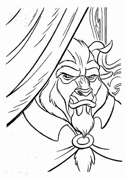 Beast Beauty Coloring Pages Coloringpages1001