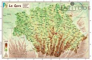 Carte Du Gers Détaillée : gers georelief poster 3760096990209 latitude360 librairie du voyage ~ Maxctalentgroup.com Avis de Voitures