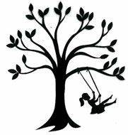 silhouette+swing | silhouette animation graphic depicting ...