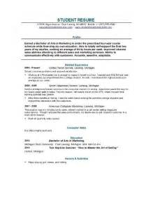 Writing A College Resume by College Resume Format Learnhowtoloseweight Net