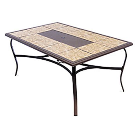 wilson fisher 174 sanibel rectangle tile top table big lots