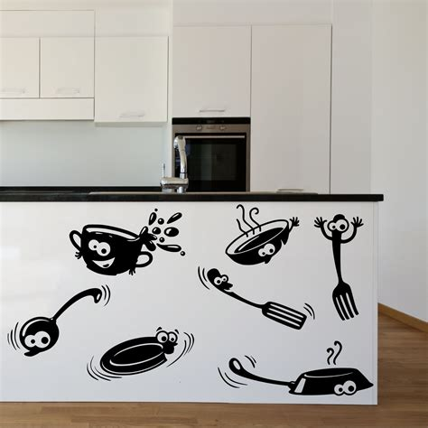 sticker mural cuisine kitchen cupboard stickers vinyl wall decal