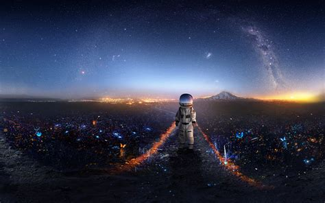 Download Astronaut Creative Artwork 7680x4320 Resolution