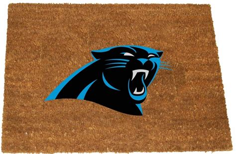what colors are the carolina panthers carolina panthers color exterior doormat