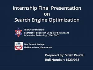 BSC CSIT Final Year Internship PPT Presentation on SEO