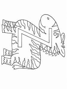 Z Zebra Alphabet Coloring Pages & Coloring Book