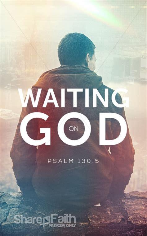 waiting  god church bulletin sermon bulletin covers