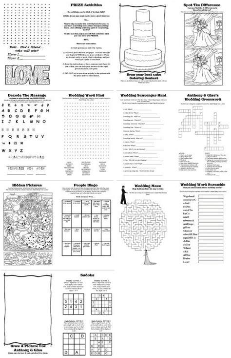 printable activity books for kids diy wedding activity book for kids free printables