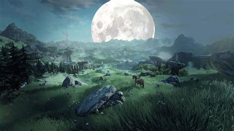 fantasy art painting  legend  zelda moon rock