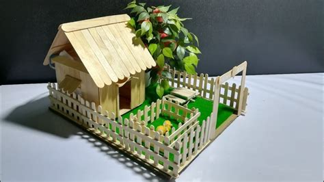 small popsicle stick house tutorial