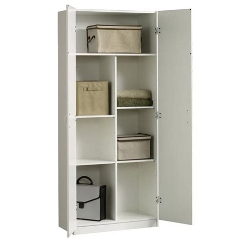 sauder beginnings storage cabinet in soft white 413678