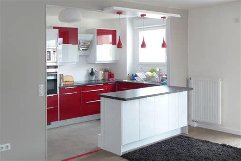 petit ilot central cuisine aménagement d 39 une cuisine américaine chez des particuliers