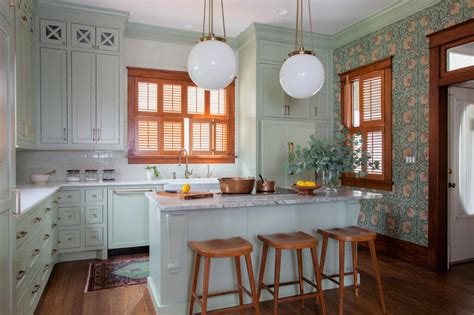 See The Spring Hues In This Charming Victorian Kitchen