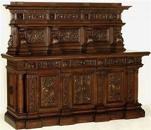 Grand renaissance style walnut buffet italy circa 189039s for Meubles de style ancien