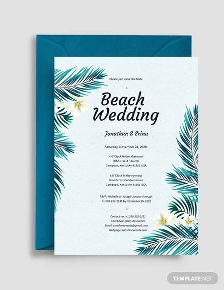 Beach Wedding Invitation Wedding invitation templates