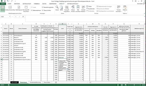 reisekostenabrechnung formular  excel kostenlos
