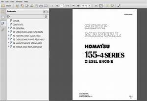 Komatsu 155-4 Series Diesel Engine Service Repair Manual  Sebe6120a05  Komatsu 155-4