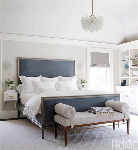 grey white and blue bedroom redirecting