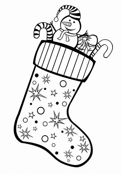 Stocking Coloring Gifts Christmas Pages Stockings