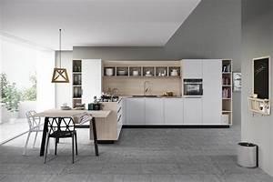 cuisine gris et bois en 50 modeles varies pour tous les gouts With peinture cuisine gris clair