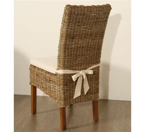coussin pour chaise rotin lot de 2 chaises en kubu tressé 5936