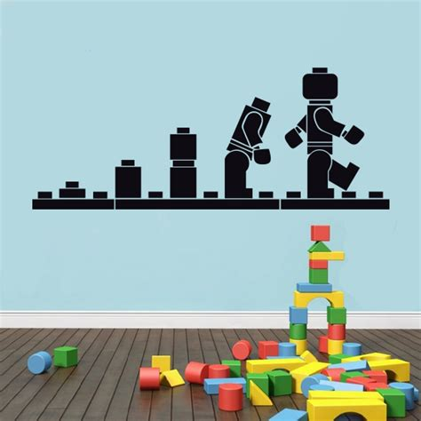 deco chambre lego free shipping lego evolution decal wall sticker lego
