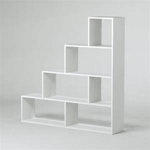 Etagere Escalier Bois : klum meuble escalier contemporain m lamin blanc brillant l 145 cm le coin store ~ Teatrodelosmanantiales.com Idées de Décoration