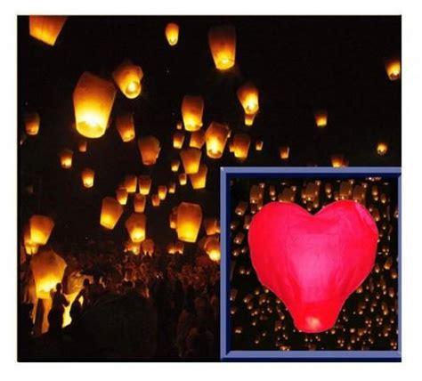 Lanterna Cinese Volante by Addobbi Per Feste Lanterne Volanti Sky Lantern Cuore Rosso