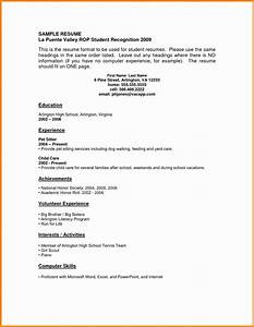 6 student resumes with no experience