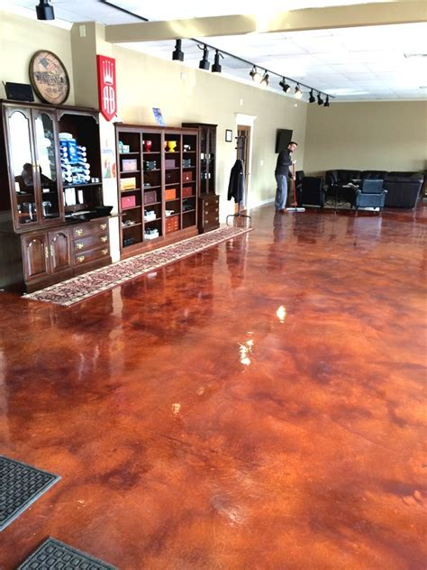 Decorative Concrete Acid Etch & Staining in Meriden & New