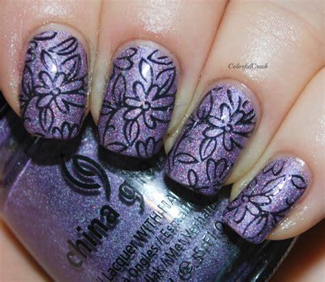beautiful purple nail art ideas