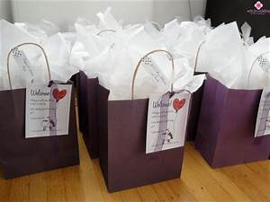 Wedding trivia take care of the guests for Wedding guest hotel gift bag ideas