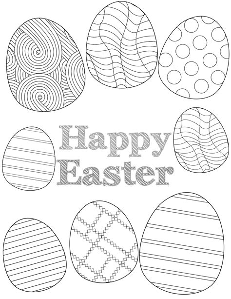 printable easter coloring sheets paper trail design