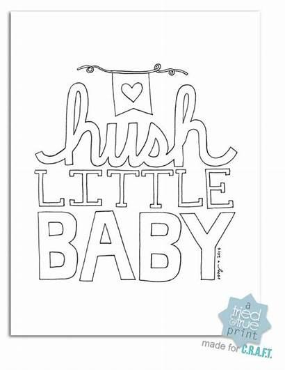Coloring Nursery Hush Printables Pages Printable Boy