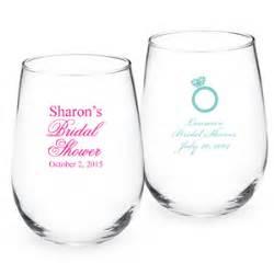 wine glass wedding favors bridal shower personalized stemless wine glass bridal shower favors wedding favors wedding