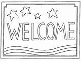 Coloring Welcome Mat Rug Pages Hooking Patterns Sketch Mats Sunday Pattern Stripes Stars Rugs Woolery Word Adult Words Visit Linen sketch template