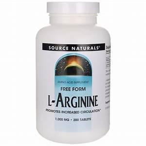 Source Naturals Free Form L-arginine 1 000 Mg 200 Tabs