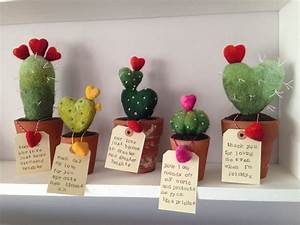 This cute needle felted cactus has touch friendly prickles ...